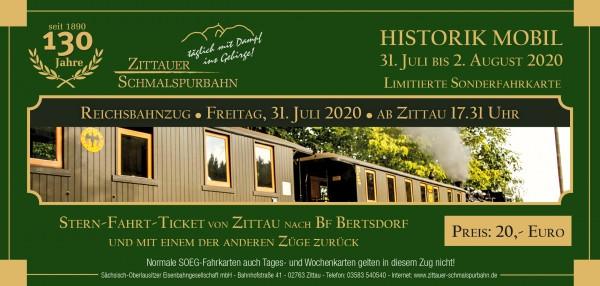 Stern-Fahrt-Ticket Reichsbahnzug ab Zittau