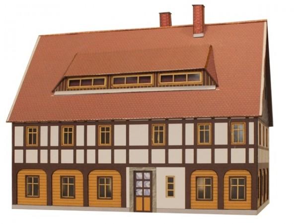 Modellbausatz Umgebindehaus mit Gaube