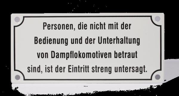 """Emailleschild """"Personen, die nicht..."""""""
