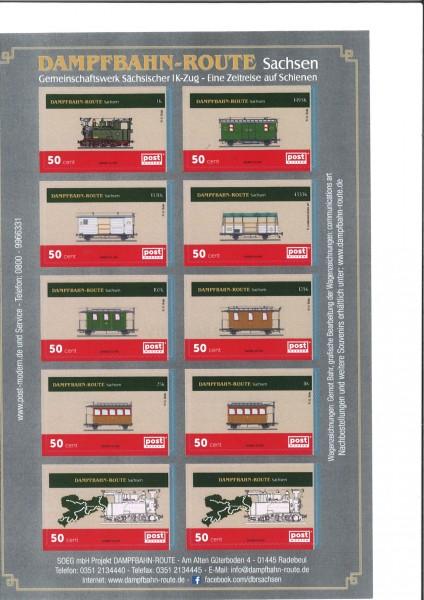 Briefmarkenblock I K-Zug 10 x 0,50 €