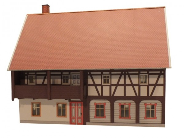 Modellbausatz Umgebindehaus mit Balkon