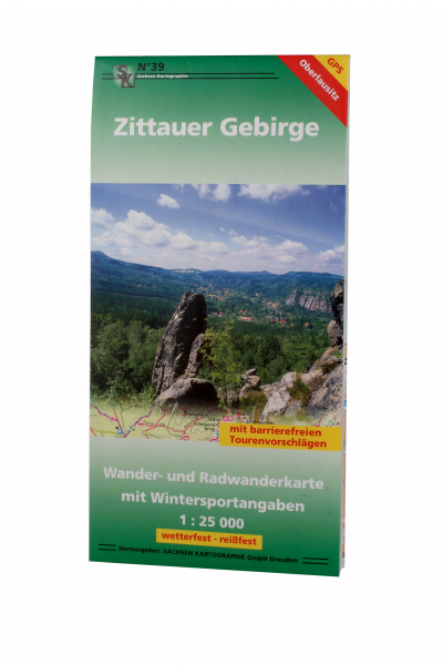 Wanderkarte Zittauer Gebirge