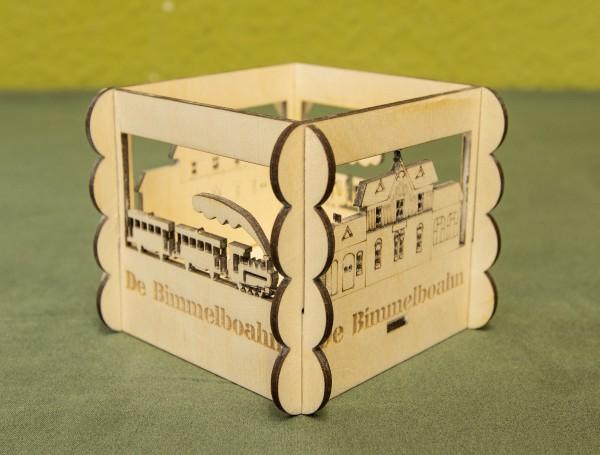 Teelichthalter Bimmelbahn