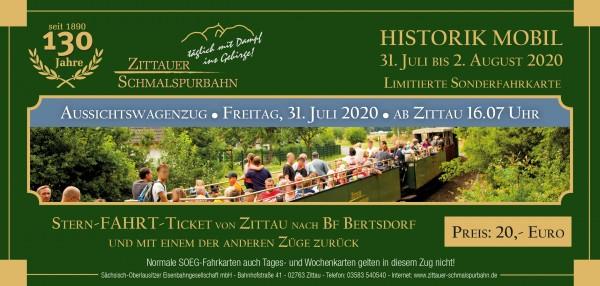 Stern-Fahrt-Ticket Aussichtswagenzug ab Zittau
