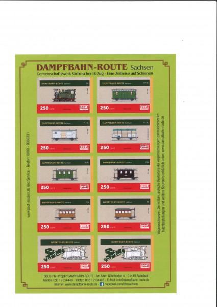 Briefmarkenblock Gemeinschaftswerk Sächsischer I K- Zug
