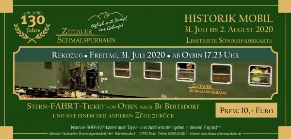 Stern-Fahrt-Ticket Rekozug ab Oybin