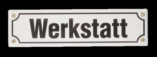 """Emailleschild """"Werkstatt"""""""