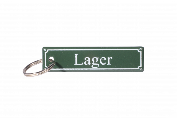 """Emaille Anhänger """"Lager"""""""