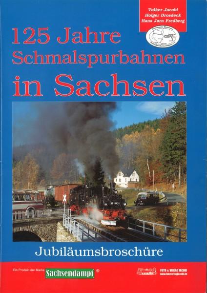 Antiquariat Broschüre 125 Jahre Schmalspurbahnen in Sachsen